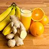 Orangen-Bananen-Ingwer-Smoothie