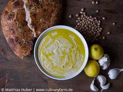 Rezepte mit Hülsenfrüchten: Grundrezept Hummus