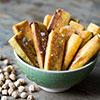 Frittierte Stäbchen aus Kichererbsenmehl – Panisse