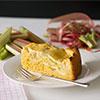Rührteig-Rhabarber-Kuchen mit saftigem Quark-Topping