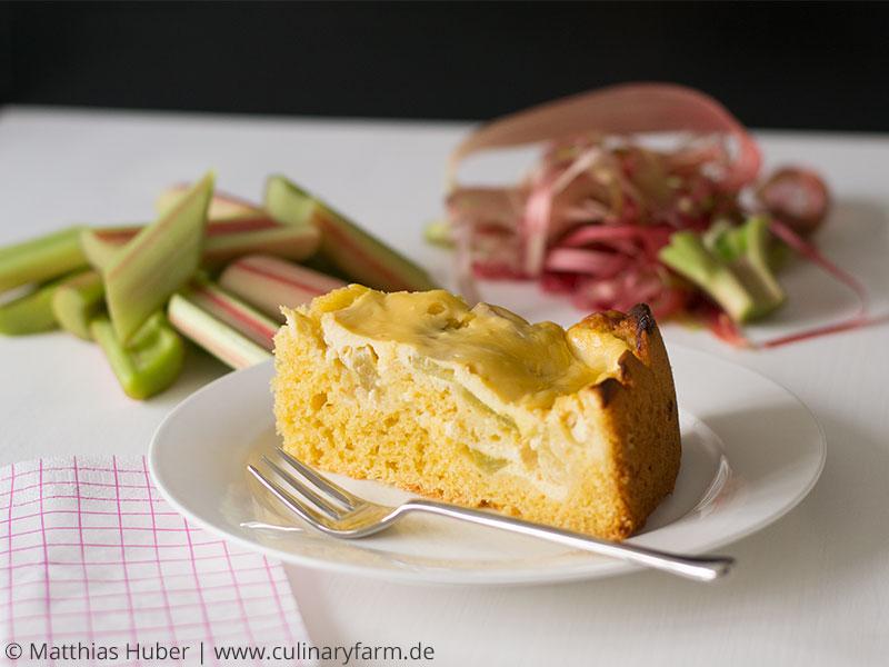 Rhabarberkuchen mit Quarkhaube