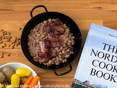 Rezepte mit Hülsenfrüchten: Bruna bönor – schwedische Braune Bohnen