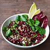 Foto Winter-Salate mit Alblinsen und Granatapfelkernen