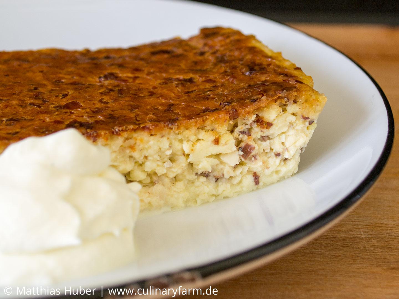 Schwedischer Nachtisch mit selbstgemachtem Frischkäse, Mandeln und Bittemandeln